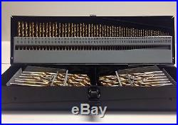 115 PC Industrial Drill Bit Cobalt Letter Numbered Set with Steel Case