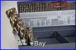 115 Pc, Cobalt Drill Bit Set, Letter, Number Made In USA