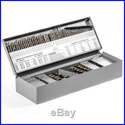 115 Pc Metal Cobalt Fractional Drill Index Bit Set Kit For Steel Cobalt