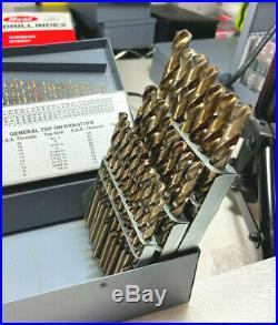 115 Pc Super Cobalt 3-In-1 Combination Jobbers Drill Set 135 Split Point
