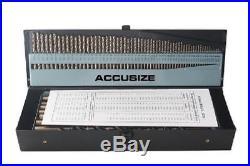 115pc Cobalt Titanium Drill Bit Set with Index Case Number Letter AccusizeTools