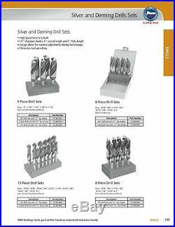 13 Piece Set Cobalt TMX Reduced Shank Silver & Deming Drills, 1/2 Shank