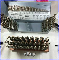 148 PC Cobalt Drill Set. 32 PCS 1/2 to 1 S&D, Silver & Deming + 115 PCS Jobber