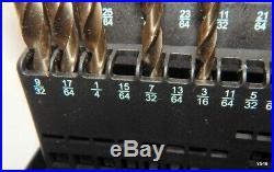 16 Piece 135° Pt. Bright Finish Cobalt Jobber Length Drill Bit Set 3/16 to 1/2