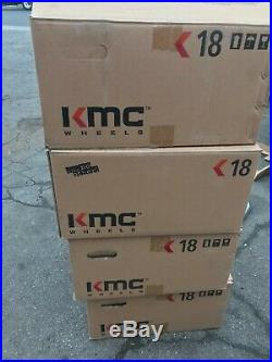 18 Inch Custom Mag Alloy Wheels Rims Dark Gray Graphite 5x110 5 Lug Set Of 4