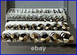 1/16-1/2 Cobalt Steel Drill Bit Set, 29 Piece, Drill America, D/A29J-CO-SET