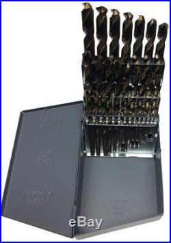 1/16 1/2 Cobalt Steel Jobber Drill Bit Set, 29 Pieces (1/64 Increments), Dr