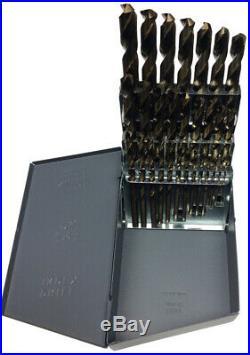 1/16-1/2x64ths 29 Piece Cobalt Jobber Length Drill Bit Set, Qualtech, DWD29