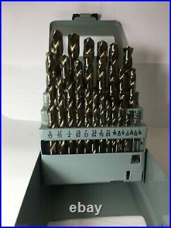 1/16-1/2x64ths 29pc Cobalt Jobber Drill Set 238-21029 X307cf V102-103