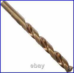 1/2-1x64ths 33 Piece Cobalt Reduce Shank Drill Bit Set, Wood Case, Qualtech