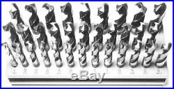 1/2-1x64ths 33 Piece HSS Drill Bit Set, 1/2 Shank, Drill America, D/A833SD-SET