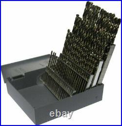 #1-#60 60 Piece Cobalt Screw Machine Drill Bit Set, Drill America, D/A60S-CO-SET