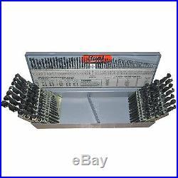 #1-60, A-Z & 1/16-1/2x64ths 115 Piece Cobalt Drill Bit Set, Qualtech, DWD115J-CO