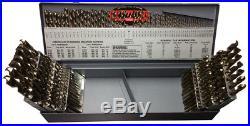 1-60, A-Z & 1/16-1/2x64ths Cobalt 115 Piece Jobber Drill Bit Set, Drill Ameri