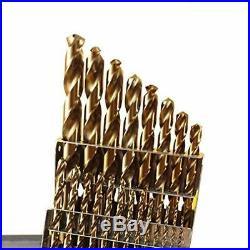 21 Pc Cobalt M42 Drill Bit Set 1/16 To 1/2 32nds