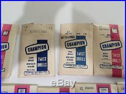 233 Piece 707C Super Cobalt HSS Drill Bit Set Champion Size 1-20. Made in USA