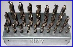 26 Pcs. Drill America A to Z M42-8% Cobalt Stub/Screw M/C Drill Set withHuot Stand