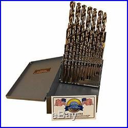 29 Jobber Drill Bits Pc Cobalt Set M42 HSS 29pc USA Drills Lifetime Warranty In