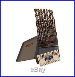 29 Pc Cobalt Drill Bit Set M42 HSS 29pc USA Drills Lifetime Warranty Made in