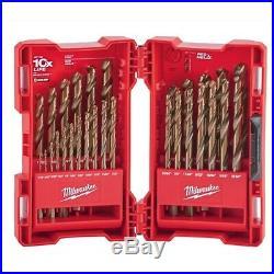 29 Piece Cobalt Red Helix Drill Bit Set Milwaukee MLW48892332