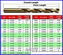 29 Pieces Drill Set 29PCs/29-Piece Twist Drill Bit Set 8% Cobalt HSS M42 Fully