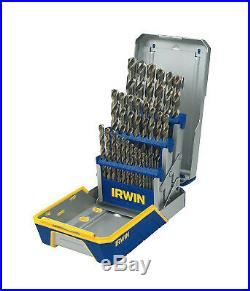 29-pc Cobalt M-35 Metal Index Drill Bit Sets, 1/16 in 1/2 in Cut Dia