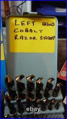 2 sets cobalt drills 1mm to 13mm ARS (aerospace razor sharp) right and left/hand