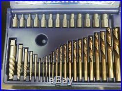 35p Cobalt Drill Bit & Stripped Broken Screw Remover Multi-Spline Extractor Set