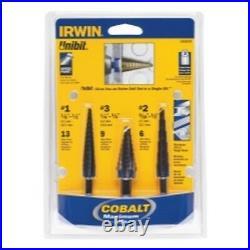 3 PIece Cobalt Unibit Step Drill Set VGP10502CB Brand New