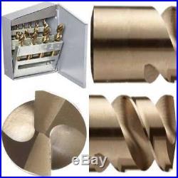 559 Series Cobalt Steel Short Length Drill Bit Set In Metal 1/16 1/2 By 1/32