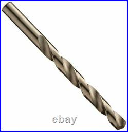 57850 550 Series Cobalt Steel Jobber Length Drill Bit Set with Metal Case, Gold