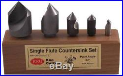 5 Pc Keo 1/4,3/8,1/2,3/4 & 1 x 82 Deg. 1 FLT M42-8% Cobalt Countersinks Set