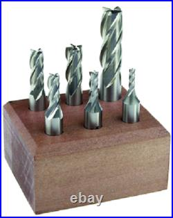 6 Piece Cobalt Double End Mill Set 4 Flute Made In USA Michigan Drill MD 241CUS