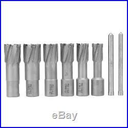 6pcs/Set Annular Cutter Cobalt 3/4 inch Weldon Shank 11/16 Magnetic Drill Bit