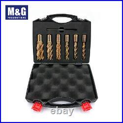 7 Pc Annular Cutter Set, Slugger, Rotary Broaches, Hole Maker Drill