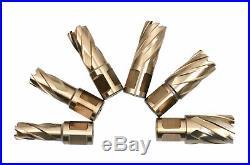 7pc M35(H. S. S. Plus 5% Cobalt) Annular Cutter Set, 3/4 Weldon Shank