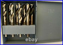 8pc 9/16-1in Cobalt Silver & Deming Drill Set USA