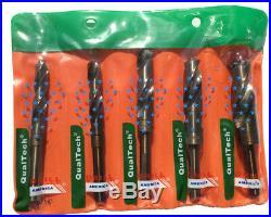9/16-1 5 Piece Cobalt Reduced Shank Drill Bit Set, Plastic Case Pouch