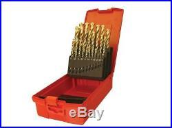 A095 Set 204 HSS TiN Coat Jobber Drill Set of 25 1.0-13.0 x 0.5mm DORA095204