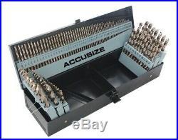 AccusizeTools M35 HSS+5% Cobalt Premium 115 Pcs Drill Set, Industrial grade, 1