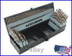 Accusize Tools M35 HSS+5% Cobalt Premium 115 Pcs Drill Bit Set, Industrial