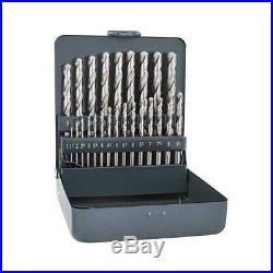 Alpen Tool Drill Bit Stainless Steel HSS Cobalt KM 25 Pc Set 1mm-13mm X 0.5 mm