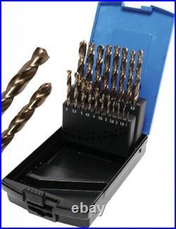 BGS Spiral Drill Set HSS G M35 Cobalt Steel 1 10 MM 19 Pieces 9297