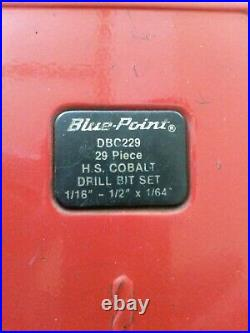 Blue Point by Snap On DBC229 Cobalt High Speed Drill Bit Set