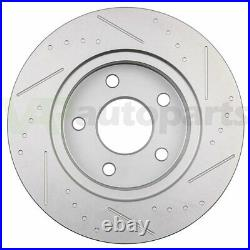 Brake Pads And Rotors Front Rear For 2009-2010 Chevrolet HHR SS 2.0L Drilled