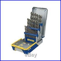 Brand New IRWIN HANSON 29 Piece Cobalt M-35 Metal Index Drill Bit Set with Case