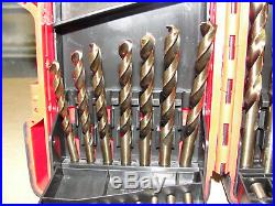 Brand New MAC TOOLS 29 PIECE COBALT GRADE DRILL BIT SET #6338DSB
