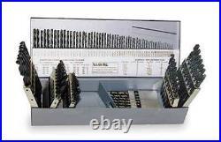 CHICAGO-LATROBE 46650 Jobber Drill Set, 115 pc, Cobalt