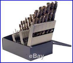 CHICAGO-LATROBE 54127 25pc. Black/Gold 135 Degrees Drill Bit Set
