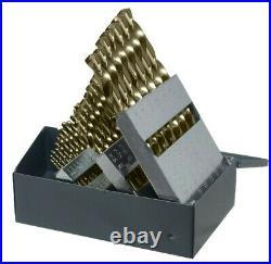 CHICAGO LATROBE 57850 Cobalt Steel Jobber Drill Bit Set 29pc 1/16-1/2